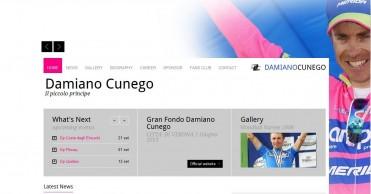 Damiano Cunego: página web oficial