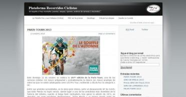 Plataforma Recorridos Ciclistas