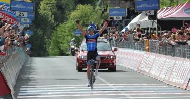 Navardauskas, ciclista a base de fuerza